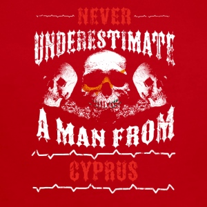 never underestimate man CYPRUS - Short Sleeve Baby Bodysuit