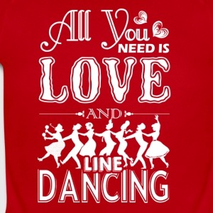 All You Need Is Love And Line Dancing Shirt - Short Sleeve Baby Bodysuit