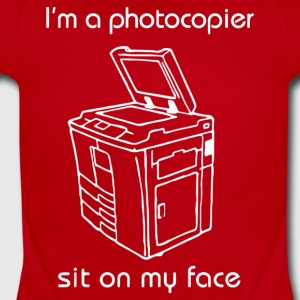 I m a photocopier sit on my face - Short Sleeve Baby Bodysuit