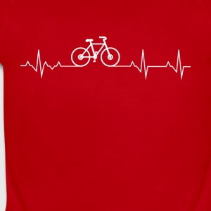 Cycling Heartbeat Lover - Short Sleeve Baby Bodysuit