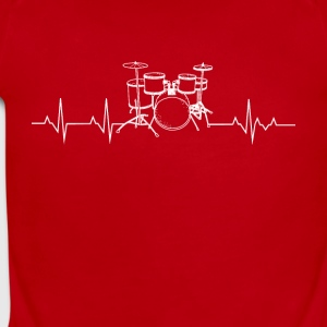 Drums heartbeat lover - Short Sleeve Baby Bodysuit