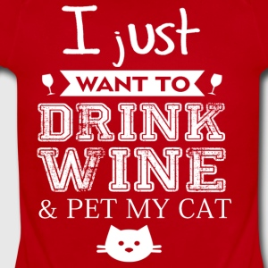 Wine and Cat - Short Sleeve Baby Bodysuit