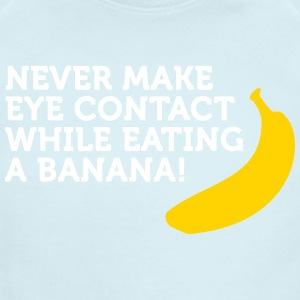 Don't Look At Me When Eating Banana - Short Sleeve Baby Bodysuit
