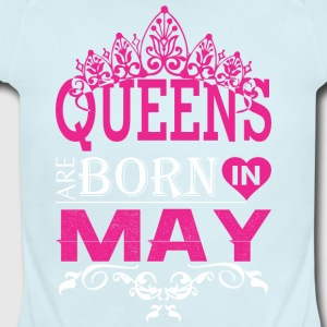 Queens Are Born In May - Short Sleeve Baby Bodysuit