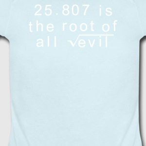 Maths 666 Root of all Evil - Short Sleeve Baby Bodysuit