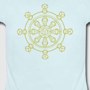 Ying Tang Dharma Wheel - Short Sleeve Baby Bodysuit