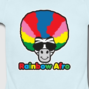 Rainbow Afro - Short Sleeve Baby Bodysuit