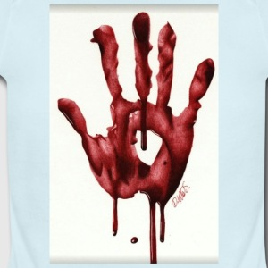 Bloody Hand - Short Sleeve Baby Bodysuit