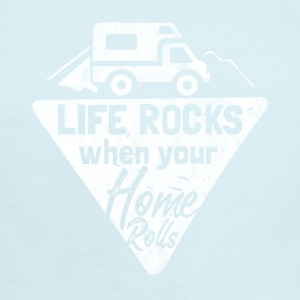 life rocks when your home rolls - Gift for campers - Short Sleeve Baby Bodysuit