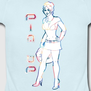 pin_up_gir_with_short_skirt - Short Sleeve Baby Bodysuit