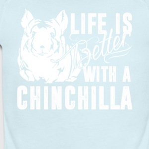 Life Is Better With A Chinchilla Shirt - Short Sleeve Baby Bodysuit