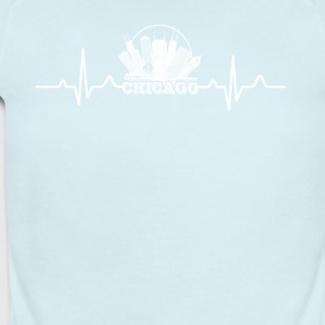 Chicago Heartbeat Shirt - Short Sleeve Baby Bodysuit