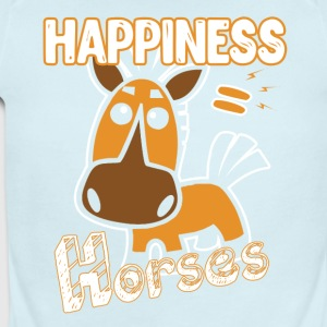 Horses Happiness T-shirt - Short Sleeve Baby Bodysuit