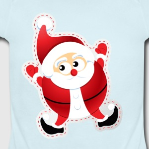 CUTE SANTA CLAUS - Short Sleeve Baby Bodysuit