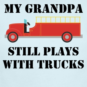 My Grandpa Still Plays With Trucks Firefighter - Short Sleeve Baby Bodysuit