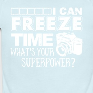 I Can Freeze Time T Shirt Photographer Shirt - Short Sleeve Baby Bodysuit