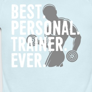 Best Personal Trainer Ever Health Fitness Tshirt - Short Sleeve Baby Bodysuit