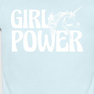 Unicorn Girl Power Shirt - Short Sleeve Baby Bodysuit