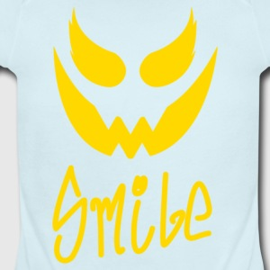 Evil Smile - Short Sleeve Baby Bodysuit