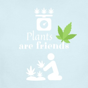 Plants are friends - Smoke Weed - Short Sleeve Baby Bodysuit