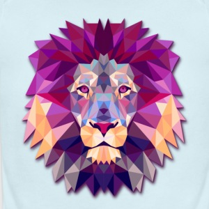 Lion Abstract - Short Sleeve Baby Bodysuit
