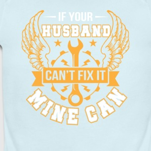 Your Mechanic Husband Cant Fix No Mine Can - Short Sleeve Baby Bodysuit