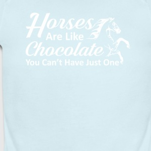 Horses Like Chocolate You Cant Have One - Short Sleeve Baby Bodysuit
