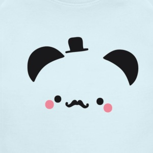 Panda Gentleman - Short Sleeve Baby Bodysuit