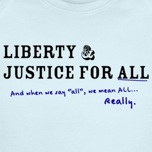 Liberty and Justice for ALL - Short Sleeve Baby Bodysuit