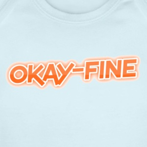 okay-fine - Short Sleeve Baby Bodysuit