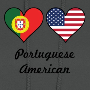 Portuguese American Flag Hearts - Women's Hoodie