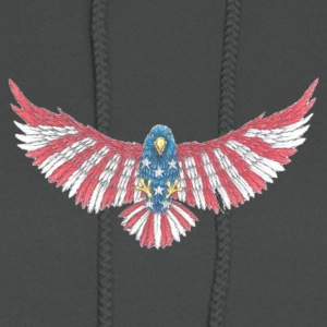 Fly America, Fly Eagle Flag - Women's Hoodie