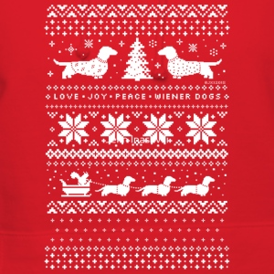 Dachshunds Christmas Sweater Pattern - Women's Hoodie