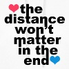Distance Wont matter in the End Hearts - Women's Hoodie