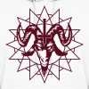 Satanic Goat Head with Chaos Star - Women's Hoodie