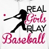 Real girls play baseball - Women's Hoodie
