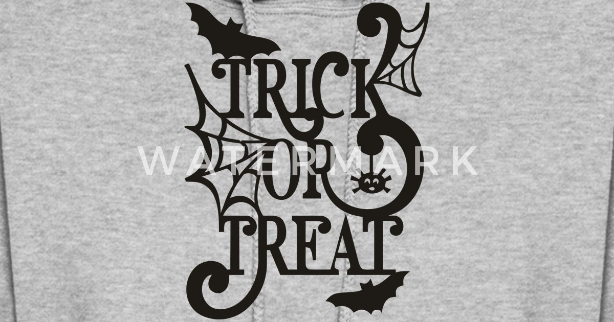 e7ca8749515 Trick or treat Halloween silhouette design Women s Hoodie