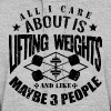 Weights Funny Gym Quotes - Women's Hoodie