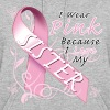 Breast Cancer I Wear Pink Because I Love My Sister - Women's Hoodie