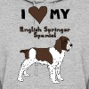 i heart my english springer spaniel - Women's Hoodie