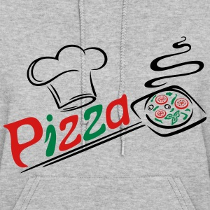 Pizza baker with cooking cap, Italian food. - Women's Hoodie