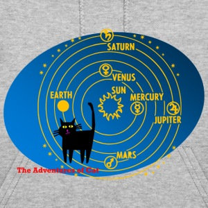 Cat Thinks Often of the Solar System - Women's Hoodie