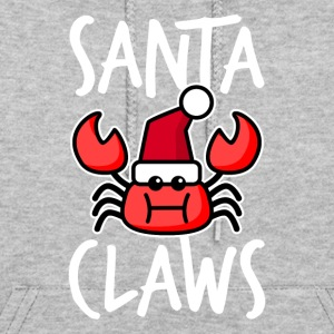 Santa Claws Funny Christmas Crab - Women's Hoodie