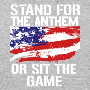 Stand up for the national anthem American flag - Women's Hoodie