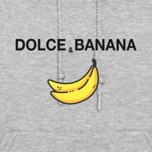 dolce and banana ironic satire humor fashion trend - Women's Hoodie