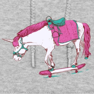 Unicorn on a Skateboard Gift Shirt Pre - Women's Hoodie