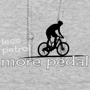 ecological cicling less petrol more pedal present - Women's Hoodie