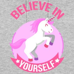 Unicorn Believe In Yourself Gift Shirt Pre - Women's Hoodie