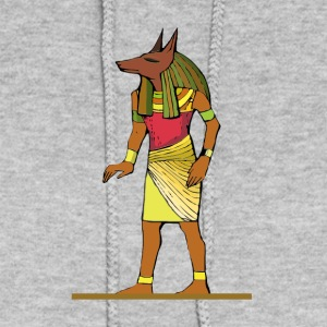 Ancient Egyptian Painting - Anubis, the Wolf God - Women's Hoodie