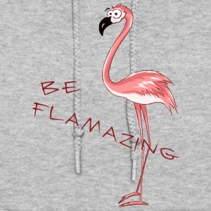 comic flamingo be flamazing funny present - Women's Hoodie